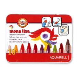 Mona Lisa - akvarelové voskovky