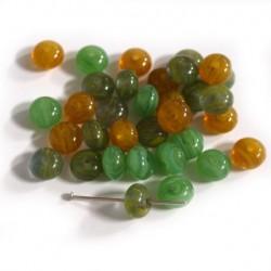 Korálky - žluto-zelené