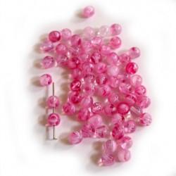 Korálky - kuličky růžové