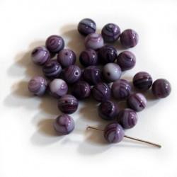 Korálky - kuličky fialové