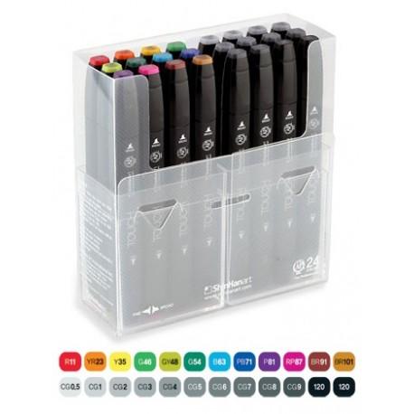 Touch Twin Marker 24 Pen Set